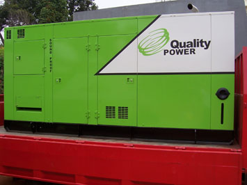 quality-power-green-genset-on-truck
